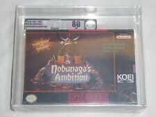 NEW Nobunaga's Ambition Super Nintendo Game SNES SEALED Graded VGA 80 NM Silver