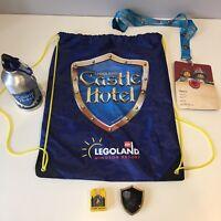 Legoland Castle Hotel 2017 Water Bottle Lanyard Bag Duplo Brick Merchandise Pop