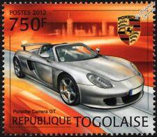 PORSCHE CARRERA GT Roadster Sports Car Mint Automobile Stamp (2012 Togo)