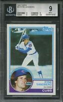 1983 topps #83 RYNE SANDBERG chicago cubs rookie card BGS 9 (9 9 9 8.5)