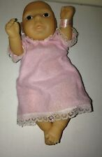 """Vintage Anatomically Correct Newborn Baby Girl Doll 8.5"""" Long Made in China"""