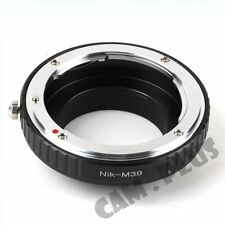 Pixco Camera Adapter for Nikon F Lens to Leica M39 Mount Camera Adapter