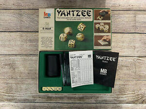 Vintage 1976 Original Yahtzee Dice Game Complete Used MB Games 8+