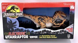 "Jurassic Park Kenner 1994 Electronic Utahraptor ""Ripper"" w/ Capture Gear NIB NEW"
