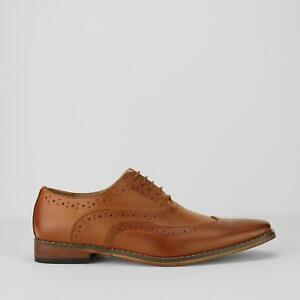 Goor TOMMY Junior Boys Kids Wedding Dress Page Boy Brogue Oxford Shoes Tan Brown