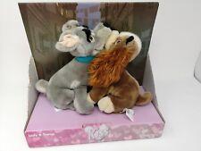 Disney Store Lady And The Tramp Kissing Plush Toys Nib (B1)