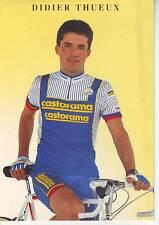 CYCLISME carte cycliste DIDIER THUEUX équipe CASTORAMA  1991