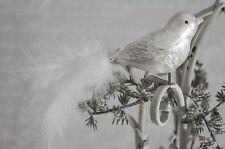 Vogel Anhänger Adventsdeko Klammer Weihnachten Christbaumschmuck Shabby Chic