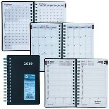 """2019 Brownline CB634V.BLK Duraflex Daily Planner Appointment Book, 8 x 5"""""""