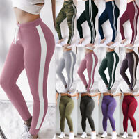 Women Workout Leggings Yoga Gym Jogging Slim Fit Sports Running Pants Trousers L