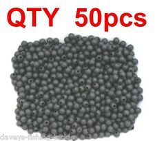 50 BLACK 6mm RUBBER RIG BEADS CHOD LEDGER CARP ROD FISHING BUFFER LINE STOPS