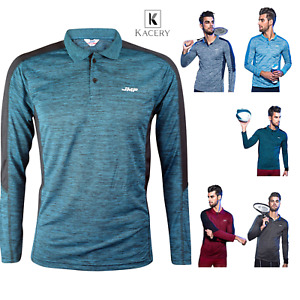 Men's Polo long Sleeve Breathable Sport t-Shirt,Gym Clothes Workout Top