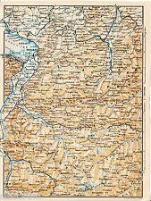 Bregenzer Wald Rhätikon 1902 Karte + frz Reisef. (3 S) Bludenz Montafon Dornbirn