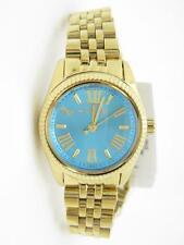 Michael Kors MK-3271 Petite Lexington Gold Tone Fluted Bezel Blue Dia Watch Gift