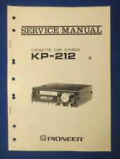 Pioneer KP-212 Cassette Service Manual Factory Original The Real Thing  v1