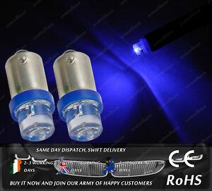 LED Bax9S H6W 433 434 Xenon Blue Sidelights Parking Bulbs Interior Lights 12v
