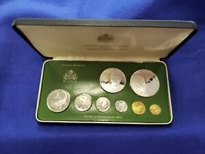 1979 Guyana Proof Coin Set of 8 Coins Complete With Case & COA L@@K NICE COINS
