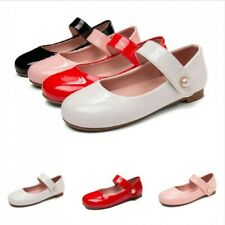 Women Girls Round Toe Ballet Flats Lolita Mary Janes Ankle Strap Flat Shoes D