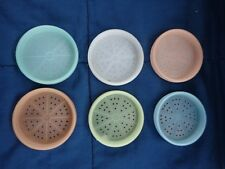 Lot of 6  VINTAGE TUPPERWARE Pastel Wagon Wheel Coasters #567