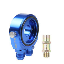 "BLUE OIL COOLER FILTER SANDWICH PLATE ADAPTOR AN10 M20 X 1.5MM 3/4"" 16 UNF"