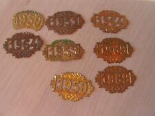 lot 8     plaques vive la classe   militaires avec defauts     (ref 6000)