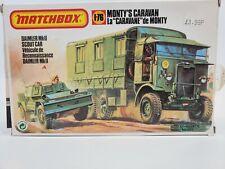 SDG Matchbox 40175 Monty's Caravan & Scout Car Vehicle 1/76 Scale Model Kit NEW