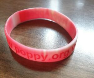 Silicon Bracelet/wristband Poppy approx 19cm
