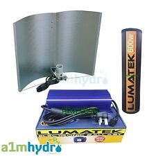 Lumatek 600W Watt Digital Ballast Adjustawing Shade Grow Light Kit Hydroponics