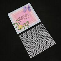 Lattice Cutting Dies Stencil DIY Scrapbooking Embossing Album Paper Card Craft