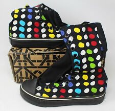 KTZ Canvas Black Polcadot Print Punk Shoes High Tops Size 37