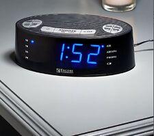 Auto Set Alarm Clock Radio 40 Station Preset Capability Snooze Button Dual Alarm
