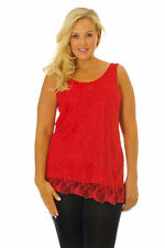 Classic Neckline Floral Sleeveless Tops for Women