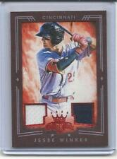 2015 DIAMOND KINGS. JESSE WINKER. FRAMED RED DOUBLE.GAME USED # 214. 99/99.