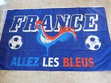 Drapeau signé FRANCE équipe EURO 16 ultra foot GRIEZMANN POGBA PAYET .. fff bleu