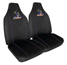 BRAND NEW NRL MELBOURNE STORM FRONT CAR SEAT COVER -AIR BAG COMPATIBLE PAIR