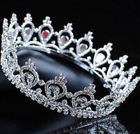 Queen Princess Crown Wedding Bridal Tiara Rhinestone Crystal Pageant Party Prom