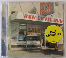 Paul McCartney Run Devil Run USA Promo Edition of Full CD Album Sticker on Jewel