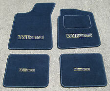 Navy Blue Car Mats - Renault Clio Williams RHD (1991-98) + Large Williams Logos