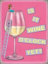Fridge Magnet – Is It Wine O'Clock Yet (Funny Picture Comedy Poster Art)