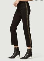 New Frame Crop jeans Le High Straight Denim black High rise Gold edge size 25