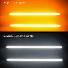 Switchback Car DRL LED Knight Rider Light Strip Tube Sequential Turn Signal 45cm
