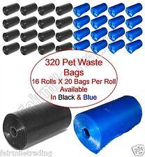 320 Pet Waste Bags Dog Cat Poo Poop Pooper Scooper Toilet On a Roll Refill