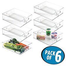 NEUWERTIG: mDesign Aufbewahrungsboxen für Kühlschrank Gefrierschrank, 6 Stück