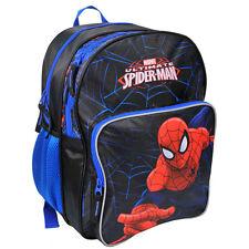 Spiderman Backpack School Bag Travel Gym Sports Boys Marvel Ultimate Black Blue