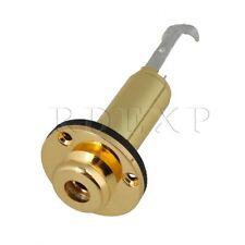 Gold Acoustic Guitar clip Mount Input Output Jack End pin Guitar Parts