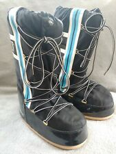 Vintage TECNICA Original MOON BOOT Snow Boots Black with Stripe US 7-8.5 EUC!!!