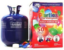 50 Jumbo Helium Balloons BULK Kit Balloon Time Gas Tank Bottle Inflator Ribbon