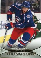 11/12 UPPER DECK YOUNG GUNS ROOKIE RC #210 JOHN MOORE BLUE JACKETS *32532