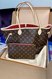 Louis Vuitton Neverfull MM Monogram Bag & Pouch, M41177, BRAND NEW!!