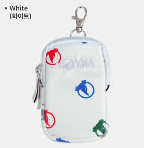 Honma Logo New Pattern Golf Ball Case Black White color